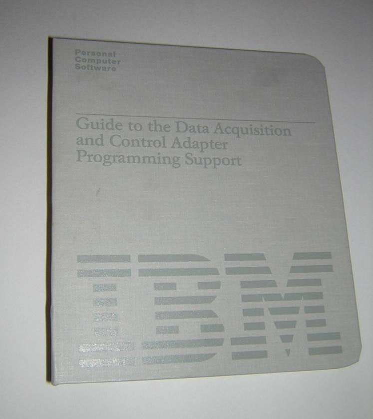 Data Acquisition And Control : Original manual software for ibm pc data acquisition and